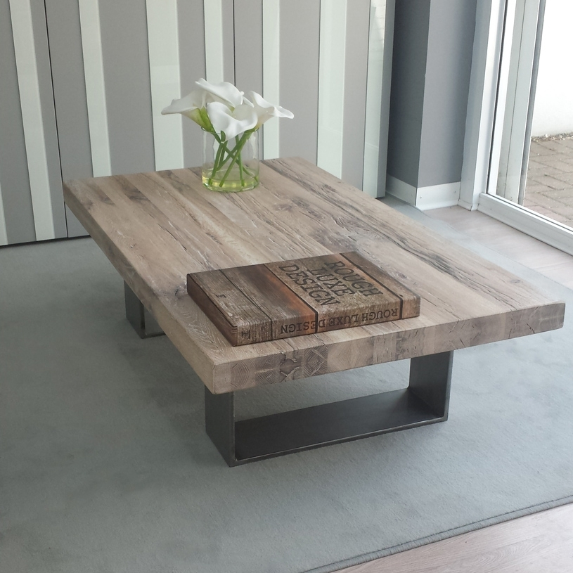 Ideas Solid Wood Coffee Table | South Point Home Design Regarding Iron Wood Coffee Tables With Wheels (Photo 18 of 40)