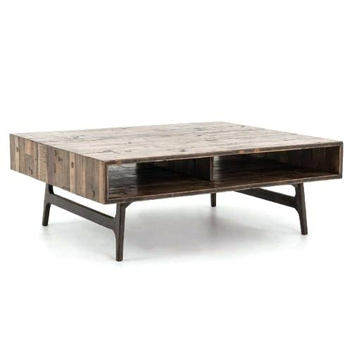 Image 1 Oak Wood Coffee Table Furniture Land Mango Weathered With Regard To Weaver Dark Rectangle Cocktail Tables (Image 24 of 40)