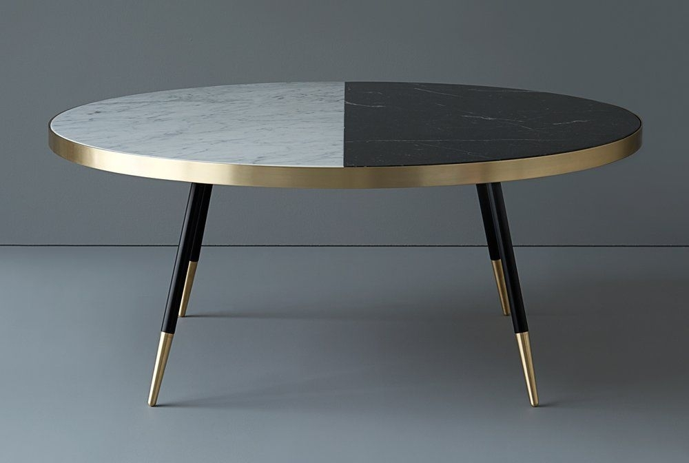 Image Of Band Two Tone Coffee Table | Furniture | Pinterest | Coffee With 2 Tone Grey And White Marble Coffee Tables (Photo 16 of 40)