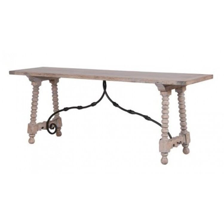 Imperial Pine Iron Console | Finance Available | Oak Furniture House Intended For Reclaimed Pine & Iron Coffee Tables (View 23 of 40)