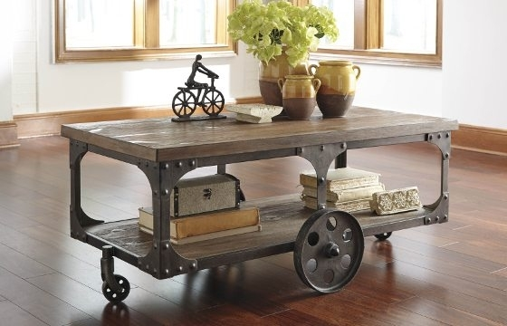Industrial Furniture & Decor Ideas For Your Home – Overstock Regarding Iron Wood Coffee Tables With Wheels (View 23 of 40)