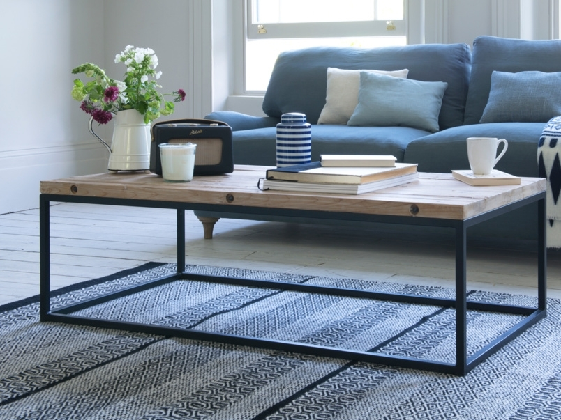 Industrial Style Coffee Table | Poste | Loaf Regarding Reclaimed Elm Iron Coffee Tables (View 14 of 40)