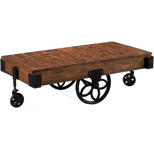 Industrial Wheel Coffee Table – Twomenandatruck (Image 24 of 40)