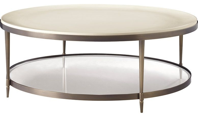 Inspiredthe Beauty Of A Cultured Pearl, The Oberon Cocktail In Swell Round Coffee Tables (Image 11 of 40)