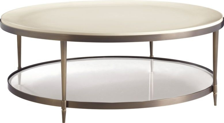 Inspiredthe Beauty Of A Cultured Pearl, The Oberon Cocktail In Swell Round Coffee Tables (Image 10 of 40)
