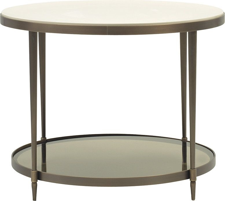 Inspiredthe Beauty Of A Cultured Pearl, The Oberon Side Table Is Intended For Swell Round Coffee Tables (Image 12 of 40)