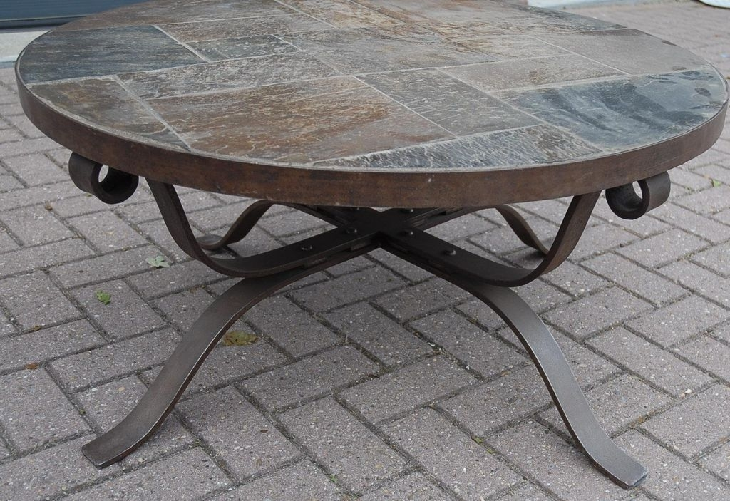 Inspiring Round Stone Top Coffee Table With Round Stone Coffee Table Regarding Stone Top Coffee Tables (Image 16 of 40)
