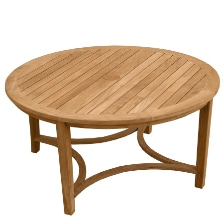 Interesting Round Teak Coffee Table With Teak Outdoor Tables Berwick In Round Teak Coffee Tables (Image 13 of 40)