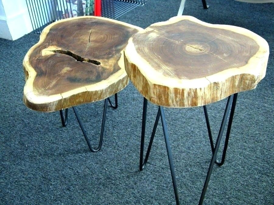 Interesting Tree Slice Table R8405534 Thing Made From Wood Slices Intended For Sliced Trunk Coffee Tables (View 14 of 40)