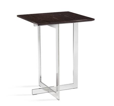 Interlude Home – Riley Square Side Table – Smoked Grey Oak With Regard To Smoked Oak Side Tables (Image 16 of 40)