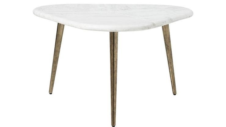 Intertwine Rounded Triangle White Marble Coffee Table Pertaining To Intertwine Triangle Marble Coffee Tables (Photo 1 of 40)