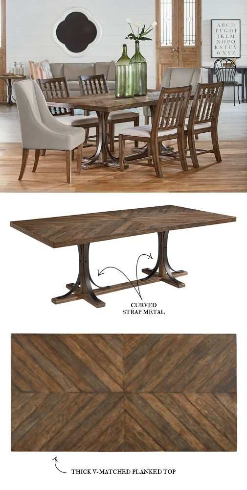 Introducing Magnolia Home Furniture – Part 3 In Magnolia Home Iron Trestle Cocktail Tables (View 5 of 40)