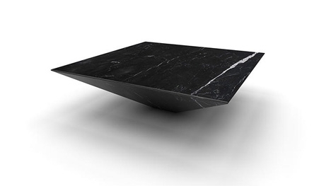 Inverted Marble Pyramid Is Like A Floating Monolith Table With Inverted Triangle Coffee Tables (View 2 of 40)