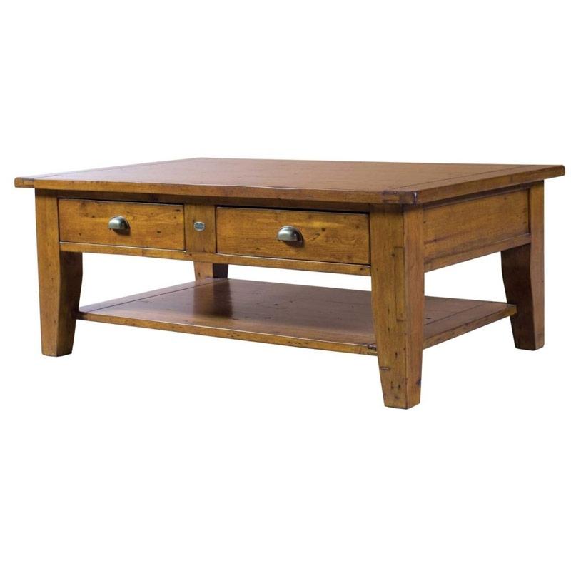 Irish Coast Reclaimed Pine Coffee Table | Buy Wooden Coffee Tables In Reclaimed Pine Coffee Tables (Image 16 of 40)
