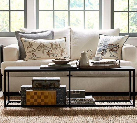 Iron Frame Minimalist Coffee Table For Mill Coffee Tables (View 7 of 40)