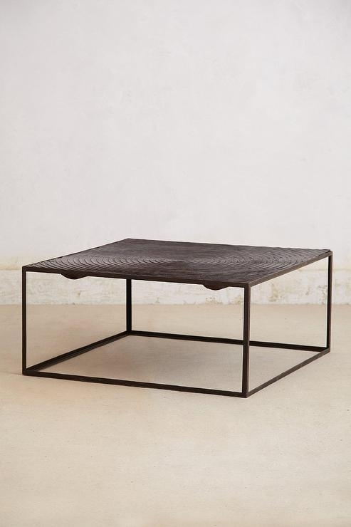 Iron Frame Spiral Pattern Top Coffee Table Within Mill Coffee Tables (Photo 3 of 40)