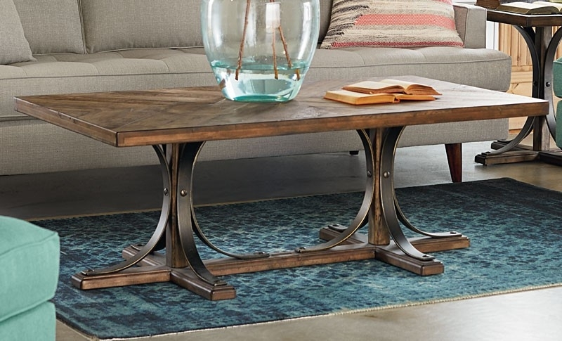 Featured Image of Magnolia Home Iron Trestle Cocktail Tables