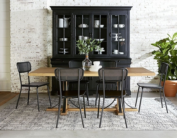 Iron Trestle Dining Table – Magnolia Home Throughout Magnolia Home Iron Trestle Cocktail Tables (Image 9 of 40)