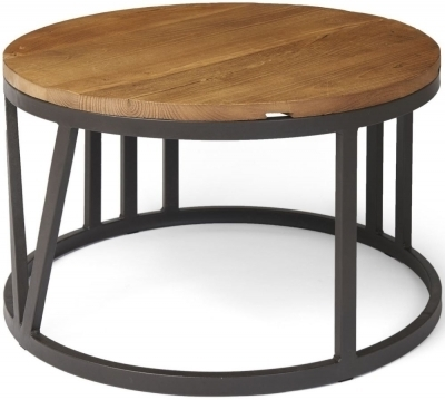 Ives Rustic Reclaimed Elm Mosaic Iron Legs Coffee Table For Reclaimed Elm Iron Coffee Tables (View 17 of 40)