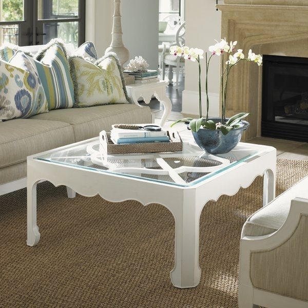 Ivory Coffee Table | Wayfair Intended For Element Ivory Rectangular Coffee Tables (Photo 11 of 40)