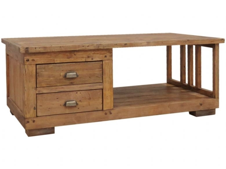 Jacob Reclaimed Pine Coffee Table – Furniture Barn Throughout Reclaimed Pine Coffee Tables (Image 17 of 40)