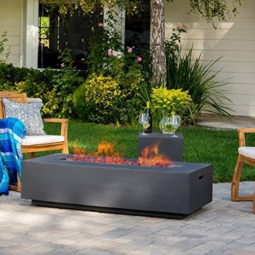 Jaxon Outdoor Fire Table With Lava Rocks & Tank Holder | Best Prices Inside Jaxon Cocktail Tables (Image 24 of 40)