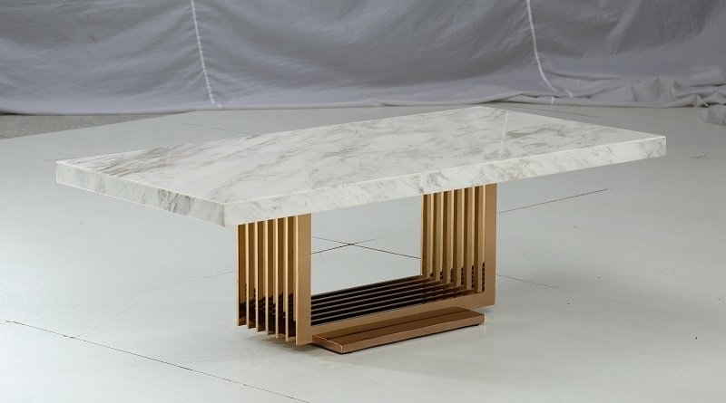 Jayleen Marble Coffee Table & Reviews | Allmodern Intended For Marble Coffee Tables (Photo 38 of 40)