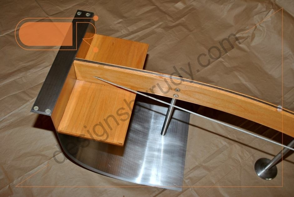 Jelly Bean Coffee Table, Glass Top, Stainless Steel, And Wood Frame Inside Jelly Bean Coffee Tables (Photo 17 of 40)