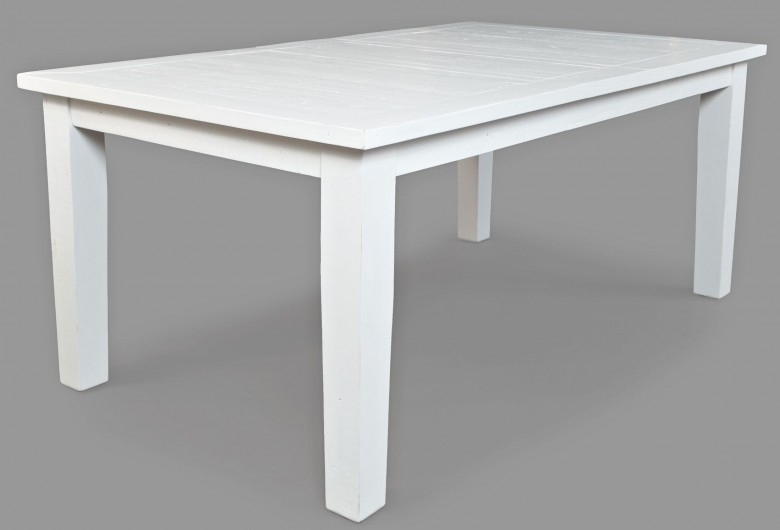 Jofran Madaket White Wax Extendable Rectangular Dining Table Within Waxed Metal Coffee Tables (Photo 35 of 40)