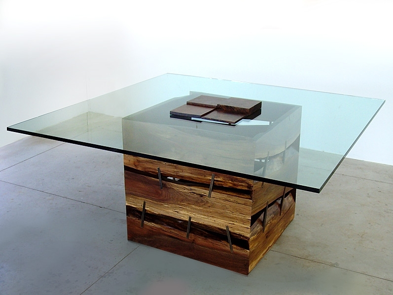 John Houshmand With Large Slab Marble Coffee Tables With Antiqued Silver Base (Image 8 of 40)