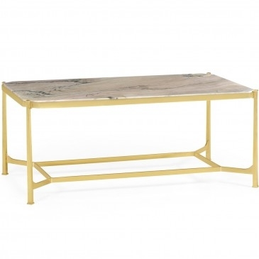 Jonathan Charles | Pavilion Broadway Inside Rectangular Coffee Tables With Brass Legs (View 6 of 40)