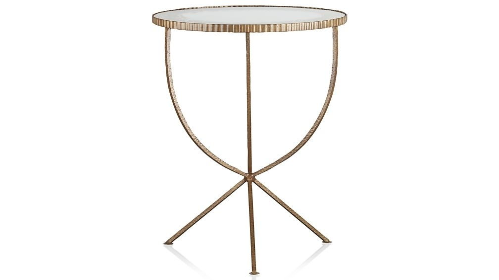Jules Large Accent Table + Reviews | Crate And Barrel With Regard To Aged Iron Cube Tables (Image 25 of 40)