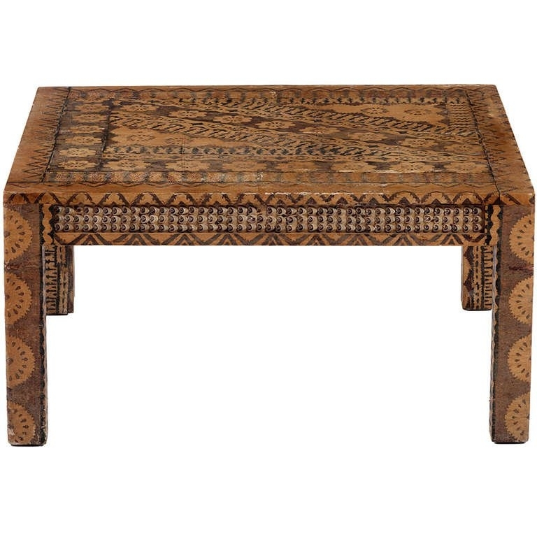 Karl Springer Batik Coffee Table At 1Stdibs Pertaining To Batik Coffee Tables (View 6 of 40)