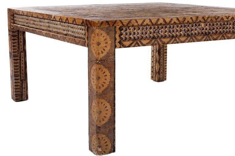 Karl Springer Batik Coffee Table At 1Stdibs Regarding Batik Coffee Tables (Image 23 of 40)