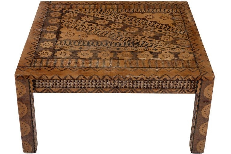 Karl Springer Batik Coffee Table At 1Stdibs With Regard To Batik Coffee Tables (Image 24 of 40)