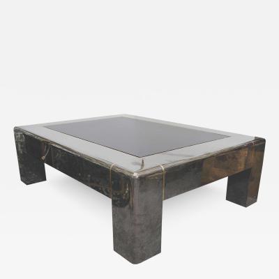Karl Springer – Midcentury Gunmetal And Smoked Glass Karl Springer With Gunmetal Coffee Tables (Image 26 of 40)