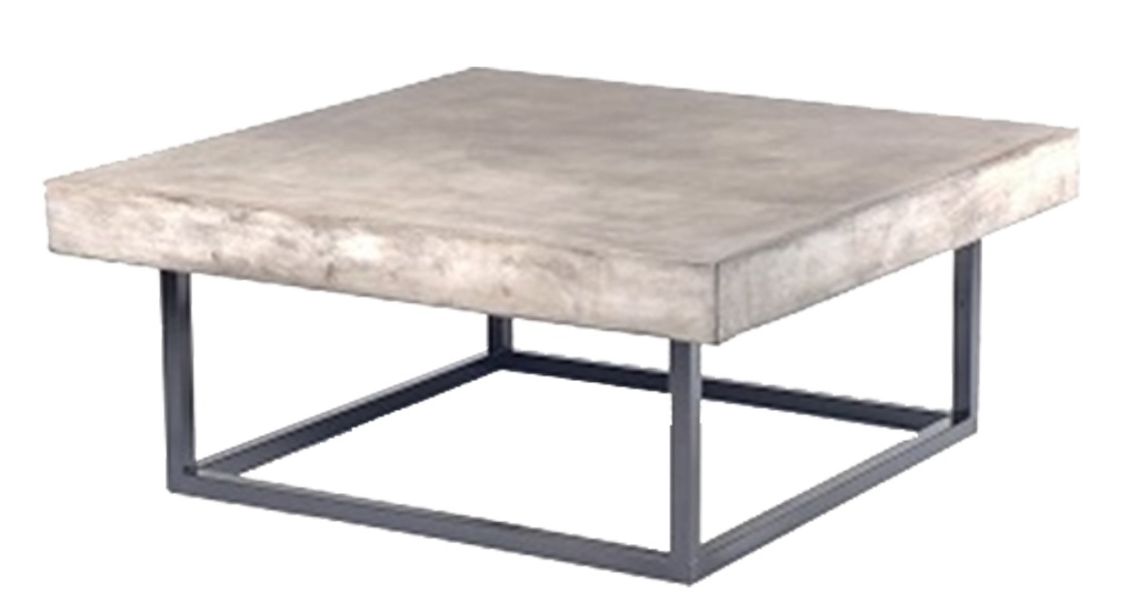 Kendo Concrete Coffee Table – Martlewood With Regard To Waxed Metal Coffee Tables (Image 22 of 40)