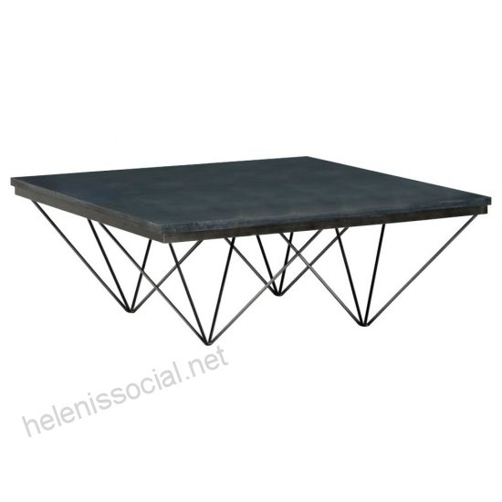 Kerrick Coffee Table – Industrial – Coffee Tables Rustic Edge Within Inverted Triangle Coffee Tables (View 27 of 40)