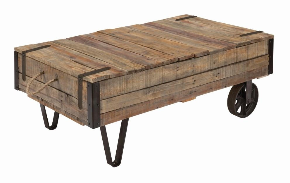 Kincaid Furniture Homecoming Industrial Cart Cocktail Table With In Potomac Adjustable Coffee Tables (Image 22 of 40)