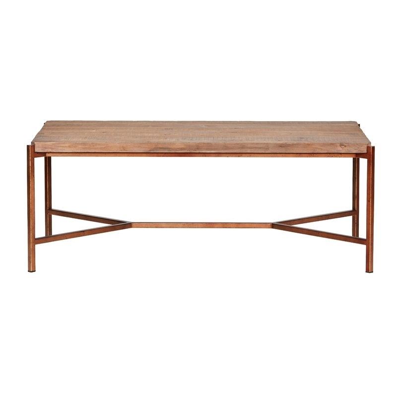 Kosas Home Lorelai Reclaimed Pine Coffee Table | Perigold Pertaining To Reclaimed Pine Coffee Tables (Image 20 of 40)