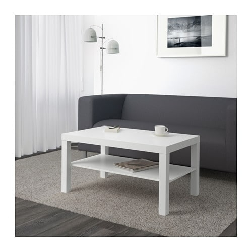 "Lack Coffee Table, White – White – 35X22X18"" – Ikea Intended For Cameo Cocktail Tables (View 25 of 34)"