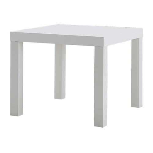 Lack Side Table White 55 X 55 Cm – Ikea Inside Smoked Oak Side Tables (Image 17 of 40)