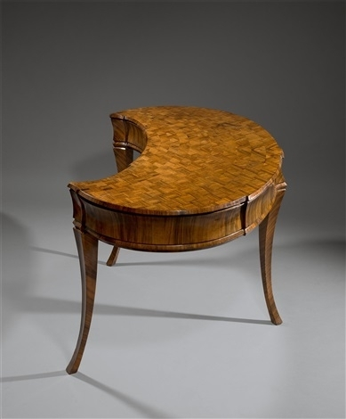 Ladys Writing Desk, In An Expressionist Style, Kidney Shaped With For Expressionist Coffee Tables (Photo 13 of 40)