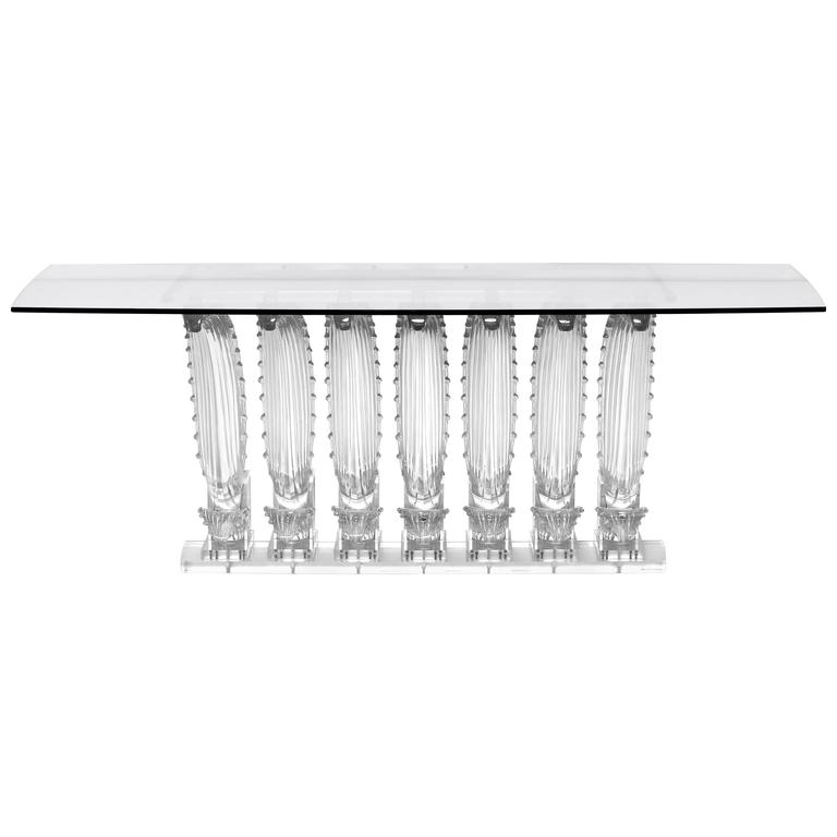 Lalique Rectangular Crystal Cactus Table For Sale At 1Stdibs In Cacti Brass Coffee Tables (Image 30 of 40)