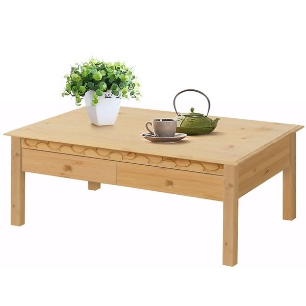 Lando 1 Drawer Coffee Table, Solid Pine, Natural – Free Shipping With Natural Pine Coffee Tables (Photo 14 of 40)