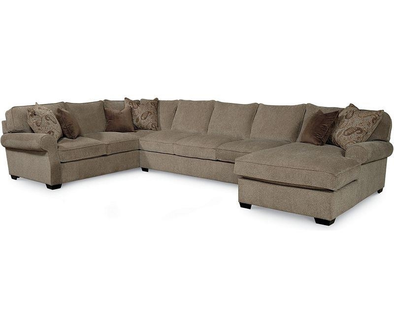 Lane Jonah Casual 3 Piece Sectional Sofa With Blend Down Seats With Regard To Jonah Lift Top Cocktail Tables (View 26 of 40)