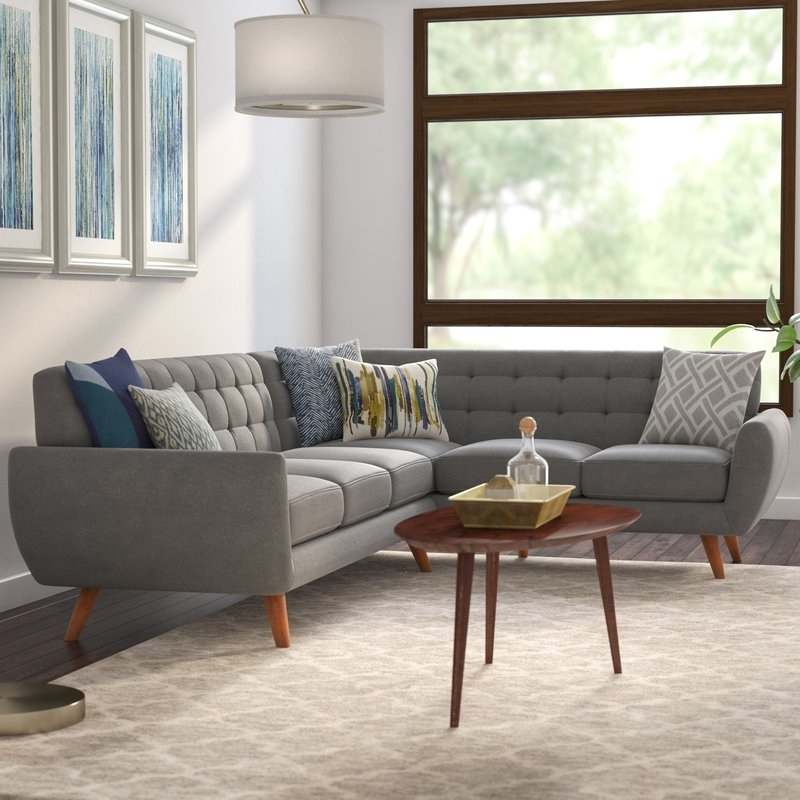 Langley Street Felicity Sectional & Reviews | Wayfair For Felicity Cocktail Tables (Image 30 of 40)