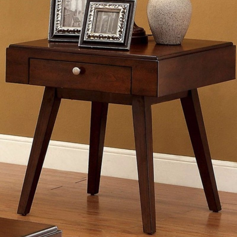 Langley Street Gordon Midcentury Modern End Table | Wayfair Inside Mid Century Modern Egg Tables (Image 10 of 40)