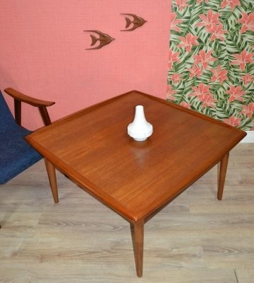 Large Danish Teak Coffee Tablegrete Jalk For Glostrup, 1960S For With Regard To Large Teak Coffee Tables (View 24 of 40)
