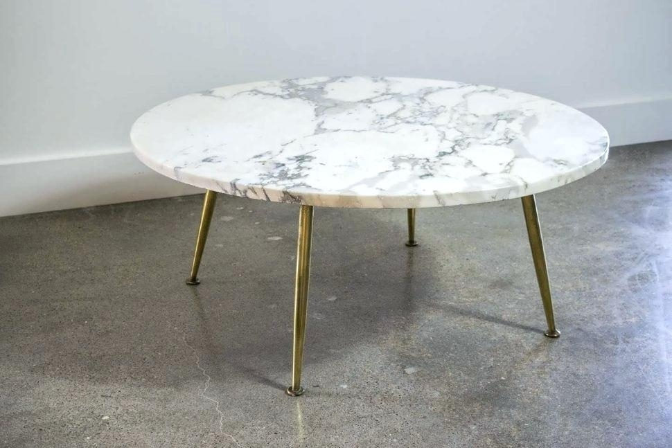 Large Marble Coffee Table Coffee And Gold Coffee Table Marble Look Within Large Slab Marble Coffee Tables With Antiqued Silver Base (Image 9 of 40)
